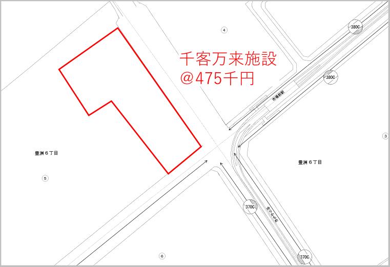 豊洲市場の地価